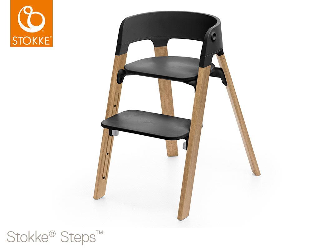 Stokke sedia steps in legno di quercia cosebimbi tutto for Sedia stokke bambini