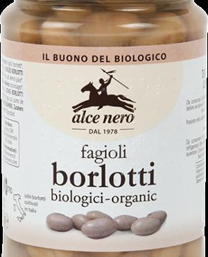 Alce Nero fagioli borlotti lessati biologici 300gr