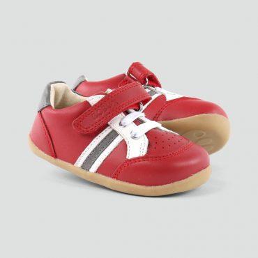 Bobux Trackside Rosso/Carbone/Bianco paio