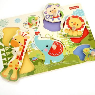 Fisher Price Puzzle animali in legno con manici colore animali 1