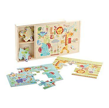 Fisher Price confezione puzzle legno 3x12 colore animali