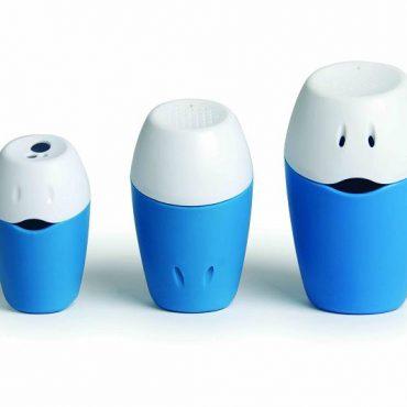 Hoppop trio bath toys colore azzurro
