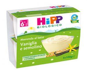 Hipp Meranda al Latte, vaniglia, semolino 4x100gr