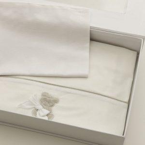 Nanan Coccolo Set Lenzuola culla 3 pezzi bianco